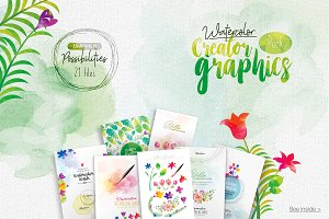 Watercolor Creator Graphics Pack