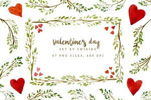 Valentine's day frames and borders