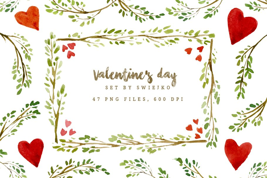 Valentine\'s day frames and borders - Illustrations | Creative Market Pro
