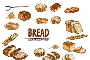 Vector bundle 15 bread set theme 5