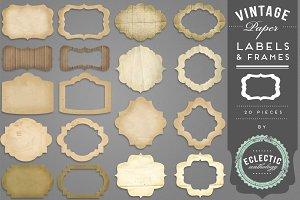 Vintage Paper Labels & Frames
