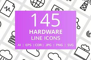 145 Hardware Line Icons