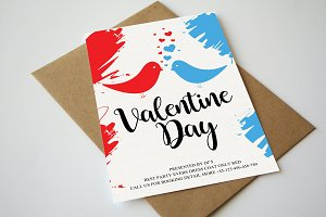 Valentine Day Greeting Card Template