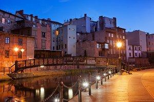 City Bydgoszcz in Poland by Night