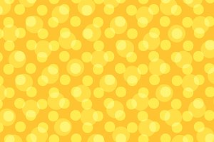 Pop art yellow background polka dot