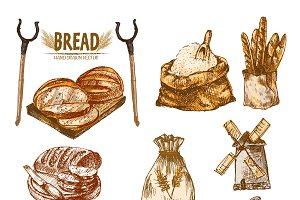 Vector bundle 10 bread set theme 11