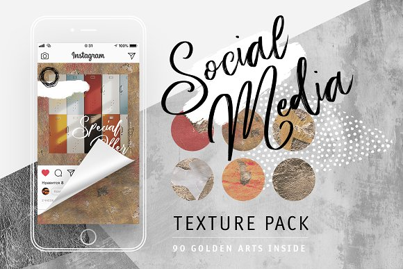 Social Media Texture Pack -Graphicriver中文最全的素材分享平台