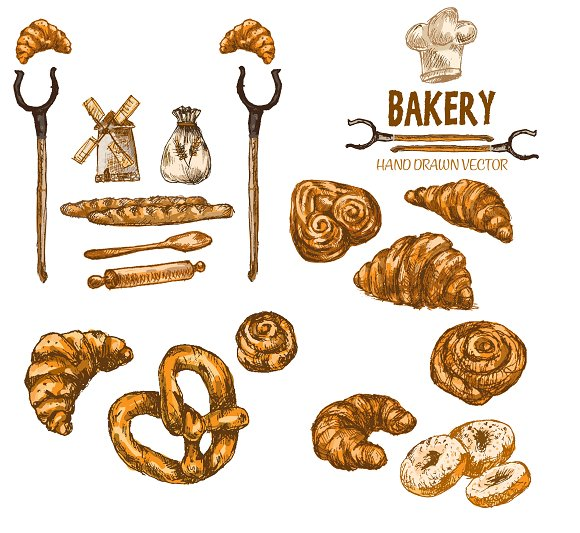 Vector Bundle 10 Bread Set Theme 13