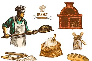 Vector bundle 10 bread set theme 15