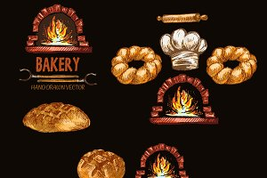 Vector bundle 10 bread set theme 16
