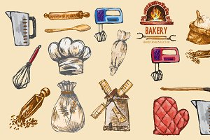 Vector bundle 15 bread set theme 17