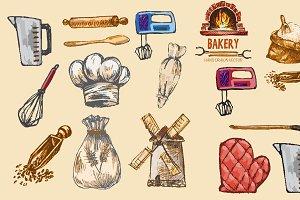 Vector bundle 15 bread set theme 17