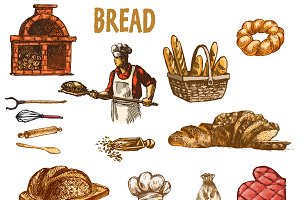 Vector bundle 10 bread set theme 18
