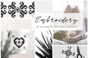 Embroidery Style Vector Patterns