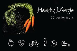 HEALTHY LIFESTYLE - vector line icon