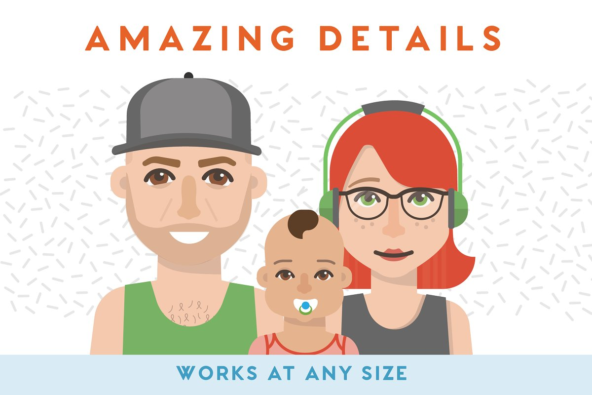 100+ Vector Avatars in Illustrations - product preview 5