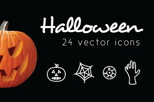 HALLOWEEN - vector line icons