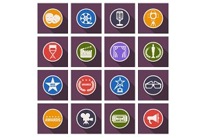 cinema icons color