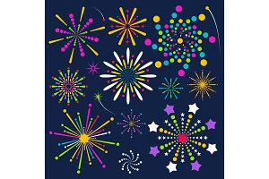 firework bright color set
