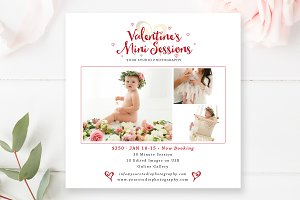 Valentine's Mini Session Template
