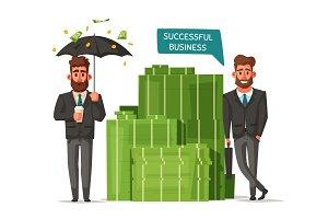 Successful, happy businessmen