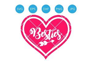 Besties Best Friends SVG Cut File