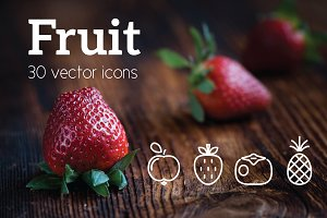 FRUIT - vector line icons