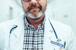 Portrait of mature doctor