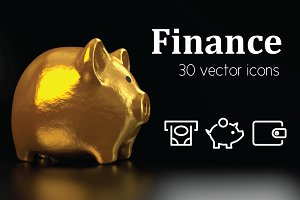 FINANCE - vector line icons