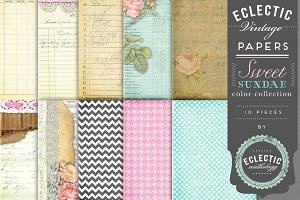Printable Papers - Sweet Sundae