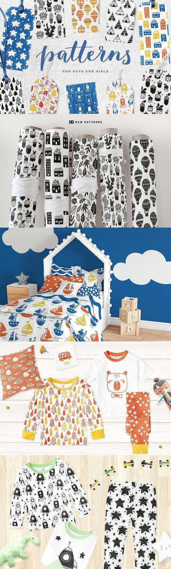 51 kids patterns, for boys & girls! in Patterns