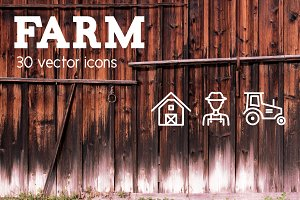 FARM - vector line icons