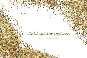 Gold glitter. Abstract background.