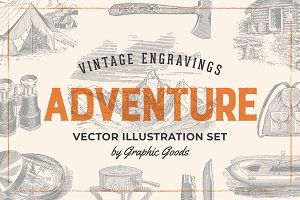 Adventure - Vintage Illustration Set