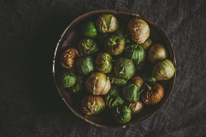 Tomatillos in a copper bowl