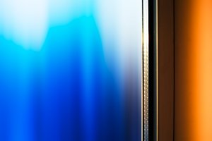 Dramtic window with light leak backdrop