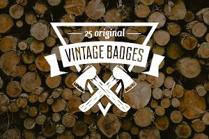 Set of Vintage Logo and Badges vol.1