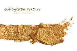 acrylic gold brush stroke