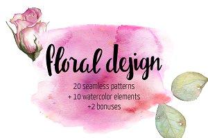 Floral Patterns + Floral Elements