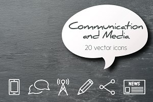 COMMUNICATION - vector line icons