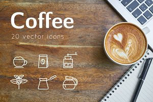 COFFEE - vector line icons