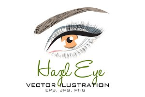 Hazel Eye Vector Illustration