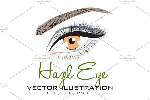 Hazel Eye Vector Illustration