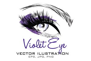 Violet Eye Vector Illustration