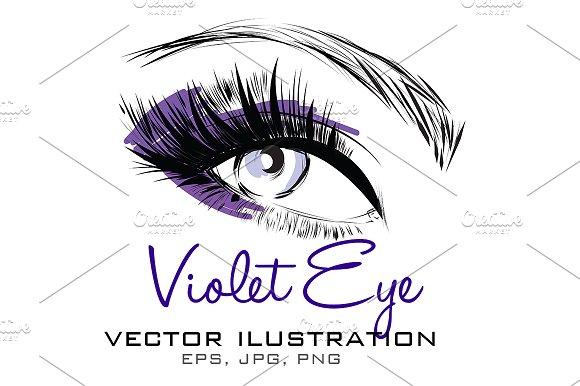 Violet Eye Vector Illustration