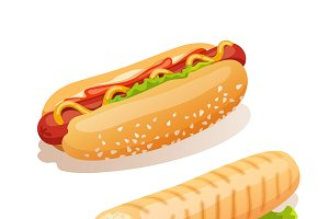 Hot dog french fast food