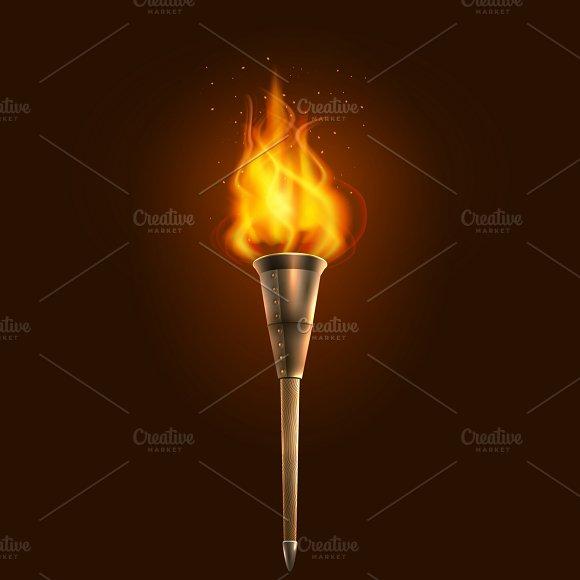 Burnin In The Dark Torch Poster