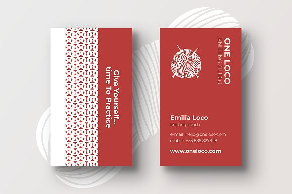 Knitting studio business cards business card templates creative knitting studio business cards business card templates creative market colourmoves