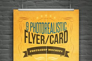 Realistic Flyer/Card Mock-Ups Vol.1