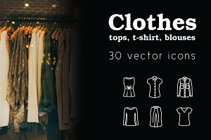 CLOTHES - vector line icons